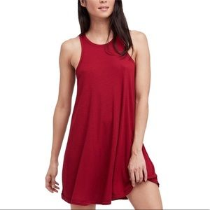 Free People La Nite dress in Raspberry